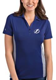 Antigua Tampa Bay Lightning Womens Blue Venture Short Sleeve Polo Shirt