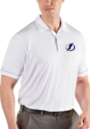 Antigua Tampa Bay Lightning Mens White Salute Short Sleeve Polo