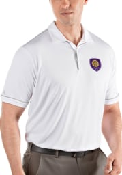 Antigua Orlando City SC Mens White Salute Short Sleeve Polo