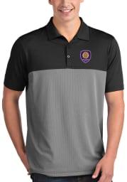 Antigua Orlando City SC Mens Black Venture Short Sleeve Polo