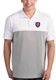 Antigua Orlando City SC Mens White Venture Short Sleeve Polo