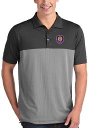 Antigua Orlando City SC Mens Grey Venture Short Sleeve Polo