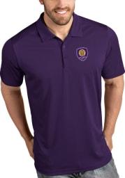 Antigua Orlando City SC Mens Purple Tribute Short Sleeve Polo