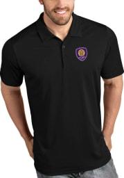 Antigua Orlando City SC Mens Black Tribute Short Sleeve Polo