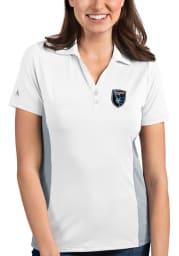 Antigua San Jose Earthquakes Womens White Venture Short Sleeve Polo Shirt