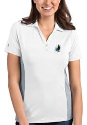 Antigua Minnesota United FC Womens White Venture Short Sleeve Polo Shirt