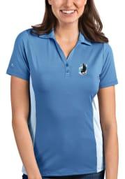 Antigua Minnesota United FC Womens Blue Venture Short Sleeve Polo Shirt
