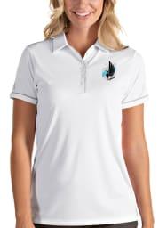 Antigua Minnesota United FC Womens White Salute Short Sleeve Polo Shirt