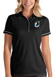 Antigua Minnesota United FC Womens Black Salute Short Sleeve Polo Shirt