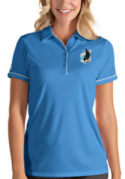 Antigua Minnesota United FC Womens Blue Salute Short Sleeve Polo Shirt