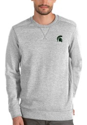 Antigua Michigan State Spartans Mens Grey Defender Long Sleeve Sweater