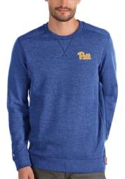 Antigua Pitt Panthers Mens Blue Defender Long Sleeve Sweater