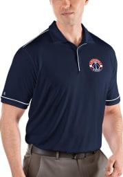 Antigua Washington Wizards Mens Navy Blue Salute Short Sleeve Polo