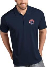 Antigua Washington Wizards Mens Navy Blue Tribute Short Sleeve Polo