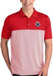 Antigua Washington Wizards Mens Red Venture Short Sleeve Polo