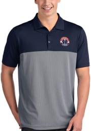 Antigua Washington Wizards Mens Navy Blue Venture Short Sleeve Polo