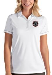 Antigua Toronto Raptors Womens White Salute Short Sleeve Polo Shirt