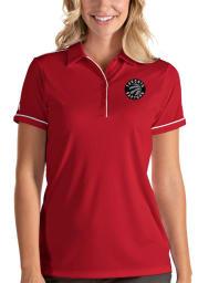 Antigua Toronto Raptors Womens Red Salute Short Sleeve Polo Shirt