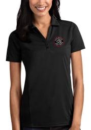 Antigua Toronto Raptors Womens Black Tribute Short Sleeve Polo Shirt