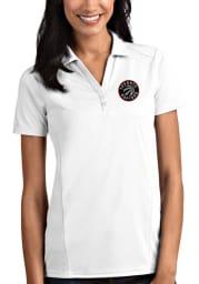 Antigua Toronto Raptors Womens White Tribute Short Sleeve Polo Shirt