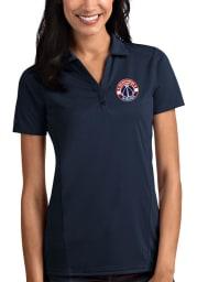 Antigua Washington Wizards Womens Navy Blue Tribute Short Sleeve Polo Shirt
