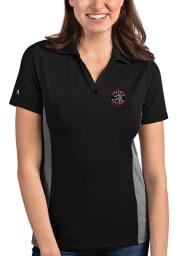 Antigua Toronto Raptors Womens Black Venture Short Sleeve Polo Shirt
