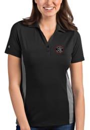 Antigua Toronto Raptors Womens Grey Venture Short Sleeve Polo Shirt