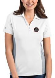 Antigua Toronto Raptors Womens White Venture Short Sleeve Polo Shirt