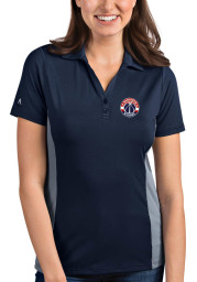 Antigua Washington Wizards Womens Navy Blue Venture Short Sleeve Polo Shirt