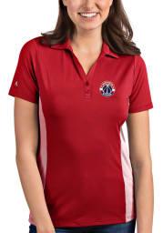Antigua Washington Wizards Womens Red Venture Short Sleeve Polo Shirt