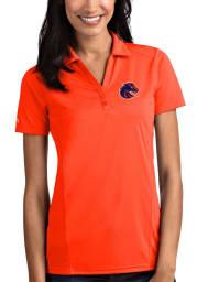 Antigua Boise State Broncos Womens Orange Tribute Short Sleeve Polo Shirt