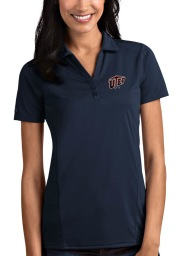 Antigua UTEP Miners Womens Navy Blue Tribute Short Sleeve Polo Shirt