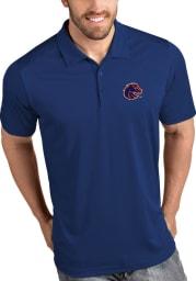 Antigua Boise State Broncos Mens Blue Tribute Short Sleeve Polo