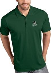 Antigua Colorado State Rams Mens Green Tribute Short Sleeve Polo
