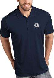 Antigua Georgetown Hoyas Mens Navy Blue Tribute Short Sleeve Polo