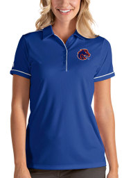Antigua Boise State Broncos Womens Blue Salute Short Sleeve Polo Shirt