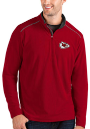 Antigua Kansas City Chiefs Mens Red Glacier Long Sleeve 1/4 Zip Pullover