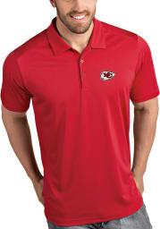 Antigua Kansas City Chiefs Mens Red Tribute Short Sleeve Polo