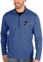 Antigua St Louis Blues Mens Blue Capacity Long Sleeve 1/4 Zip Pullover
