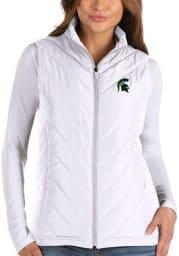 Antigua Michigan State Spartans Womens White Atlantic Vest
