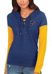 Antigua St Louis Blues Womens Navy Blue Amaze Hooded Sweatshirt