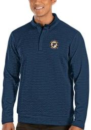 Antigua St Louis Blues Mens Navy Blue Analog Long Sleeve 1/4 Zip Pullover