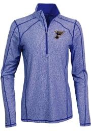 Antigua STL Blues Womens Blue Tempo 1/4 Zip Pullover