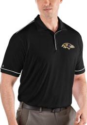 Antigua Baltimore Ravens Mens Black Salute Short Sleeve Polo