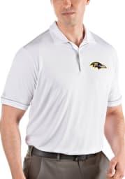 Antigua Baltimore Ravens Mens White Salute Short Sleeve Polo