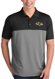 Antigua Baltimore Ravens Mens Black Venture Short Sleeve Polo