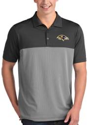 Antigua Baltimore Ravens Mens Grey Venture Short Sleeve Polo