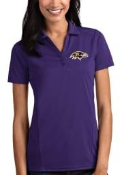 Antigua Baltimore Ravens Womens Purple Tribute Short Sleeve Polo Shirt