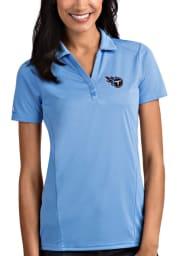 Antigua Tennessee Titans Womens Blue Tribute Short Sleeve Polo Shirt