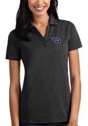 Antigua Tennessee Titans Womens Grey Tribute Short Sleeve Polo Shirt
